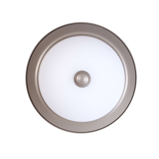 "Decorative Ceiling with Finial, 14"", 17W LED Module, 120V, 3000K, Nickel Satin - LEDGeeks"