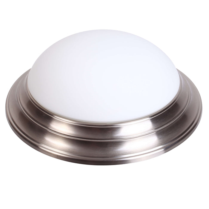 "Decorative Step Down Ceiling Fixture 14"", 17W LED Module, 120V, 3000K, Nickel Satin - LEDGeeks"