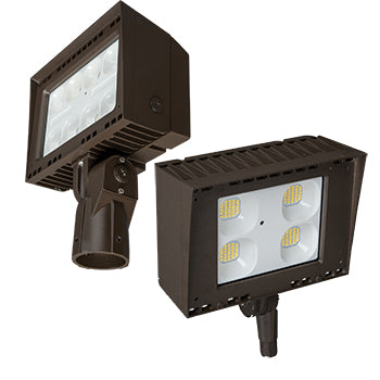 Flood Light Architectural, 50W LED Module, 120-277V, 5000K, with Photocell, Brown - LEDGeeks