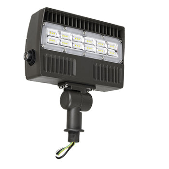 Flood Light, 30W LED Module, 120-277V, 5000K, with Photocell, Brown - LEDGeeks