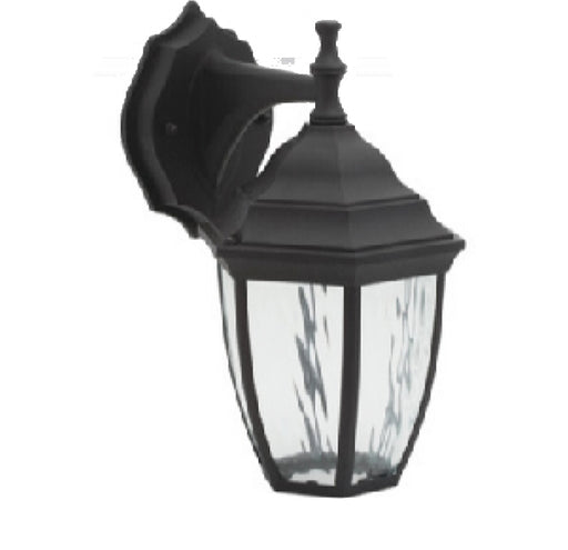 Decorative Outdoor Box Lantern, 9W LED Module, 120V, 3000K, Photocell, Black - LEDGeeks