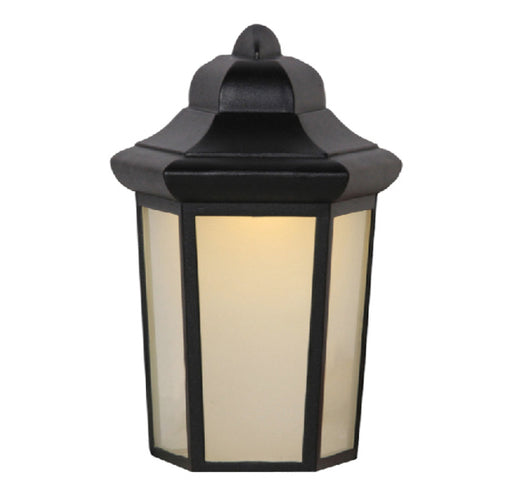 Decorative Outdoor Wall Lantern, 9W LED Module, 120V, 3000 K, Photocell, Black - LEDGeeks