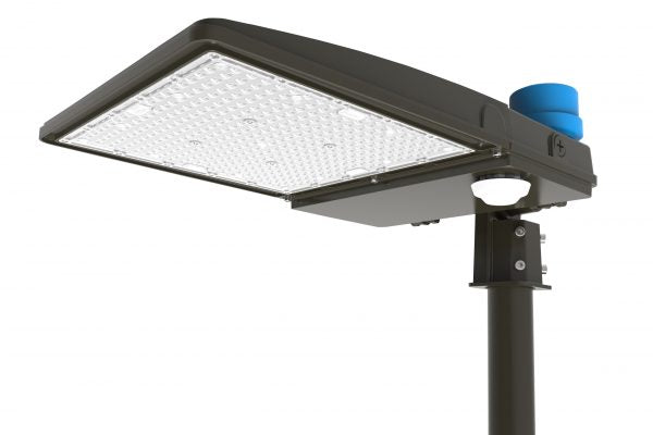 "LED Shoebox Area Light, Square Pole Mount, 14.4"", 150W LED Module, 120-277V, 5000K - LEDGeeks"