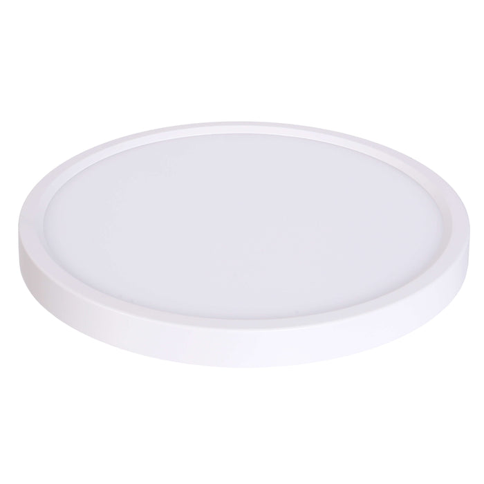 "Round Edge Lit LED Surface Mount Disk, 5"", 10W LED Module, 120V, 3000K, White - LEDGeeks"