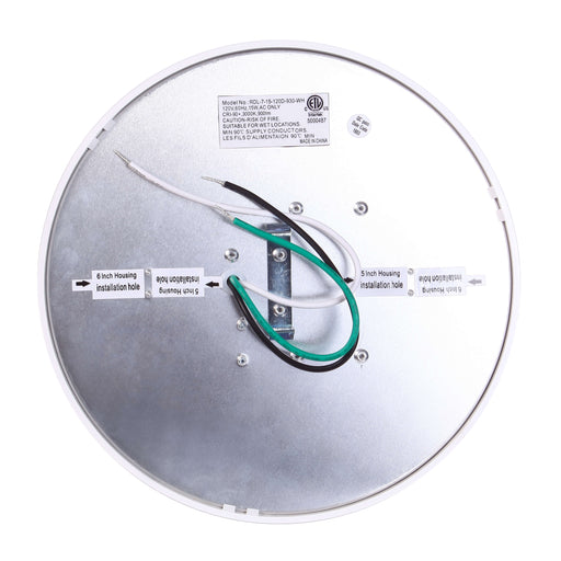 "Round Edge Lit LED Surface Mount Disk, 7"", 15W LED Module, 120V, 3000K, White - LEDGeeks"
