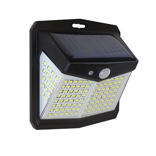 Four Sided Solar Wall Light