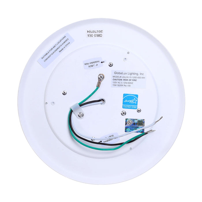 "Recessed/Surface Mount LED Disk Light, 4"", 11W LED Module, 120V, 3000K, White - LEDGeeks"