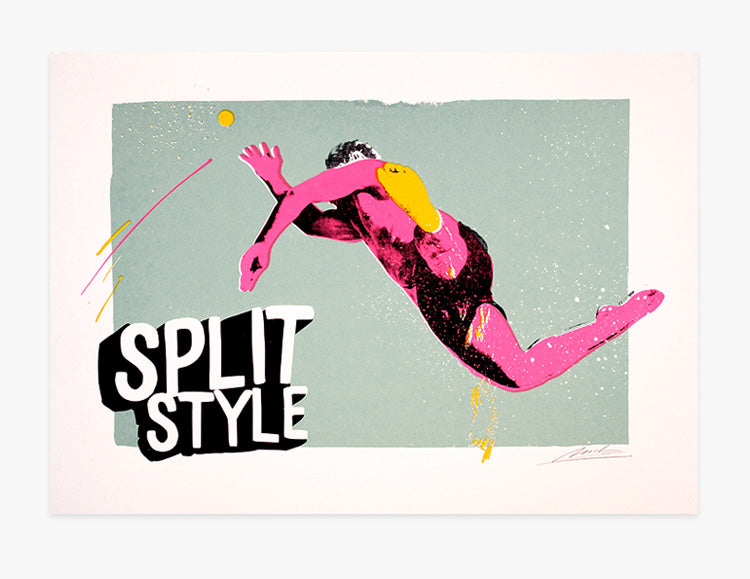 Split Style Screen Print by Mile Modic