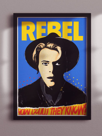 David Bowie  Rebel Rebel poster