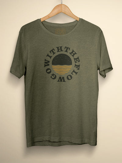 Go With The Flow - Khaki Heather Tee