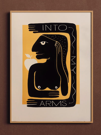 Into My Arms Screenprint by Mile Modic