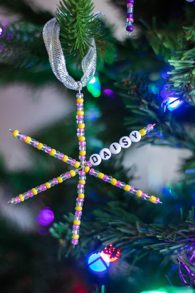 Personalized Beaded Ornament