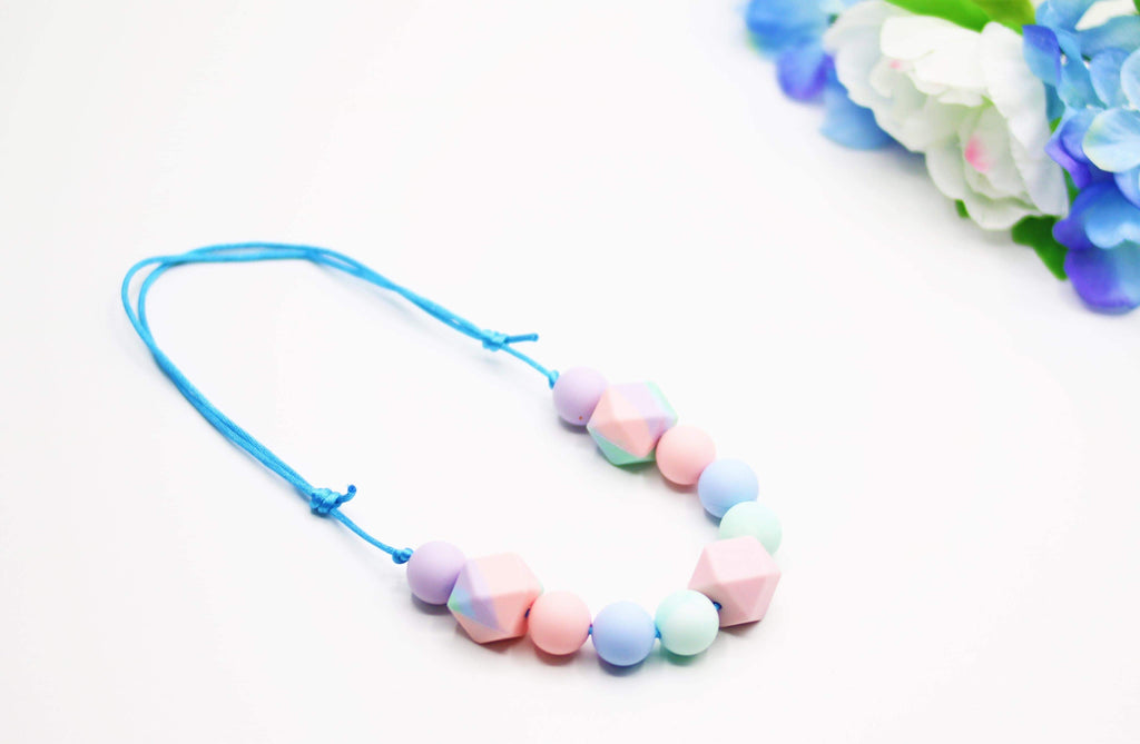 Cotton Candy Mixed Teether (Pink Center)