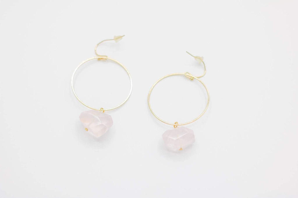 Crystal Dangle Hoop Earrings