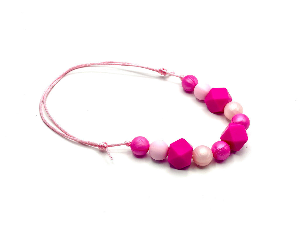 Girly Girl Hexagon Teether Necklace