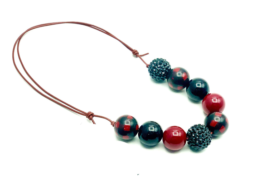 Red Buffalo Plaid Necklace