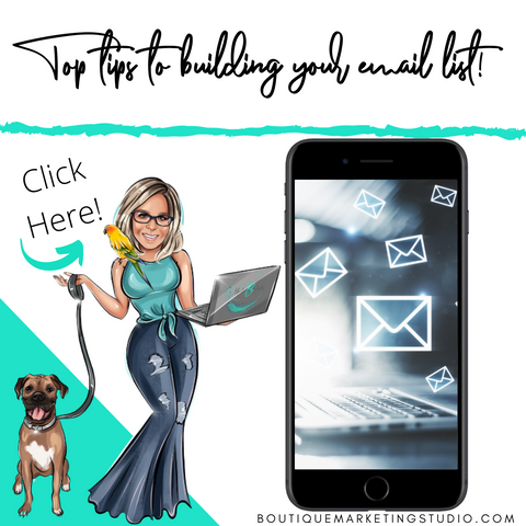 My top 6 tips to grow your email list!