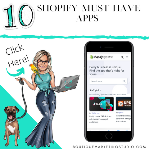 Join me as I share my top 10 Must have Shopify Apps!!