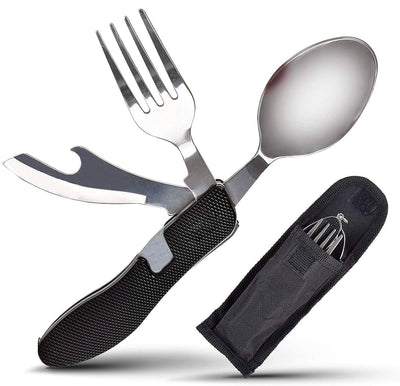 Premium 4-in-1 Camping Utensils Set