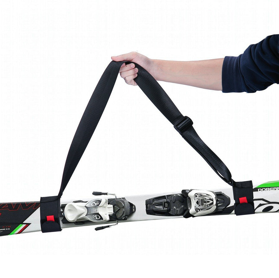 Handless™ - Premium Adjustable Ski & Pole Carrier