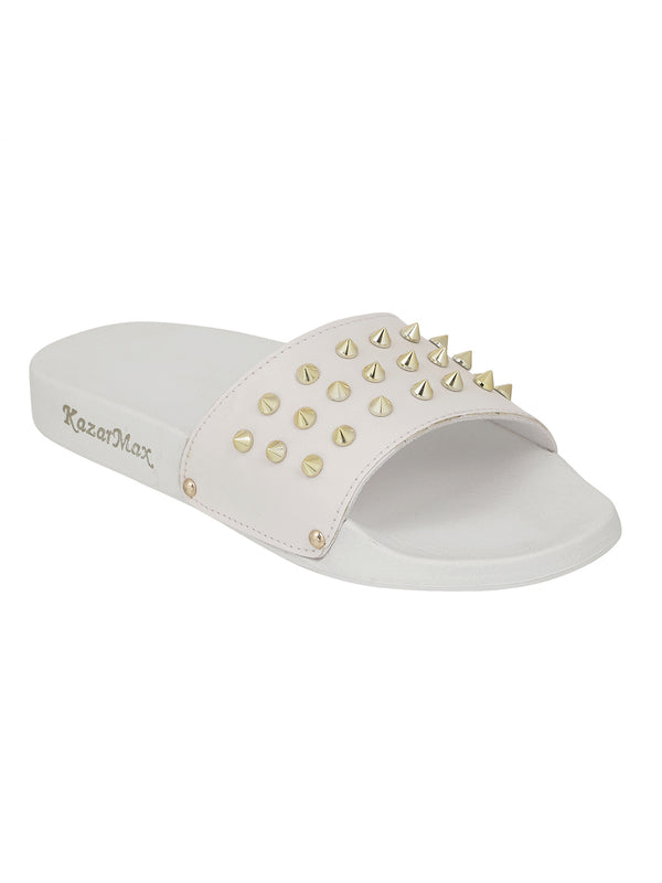 Studded - White Gold