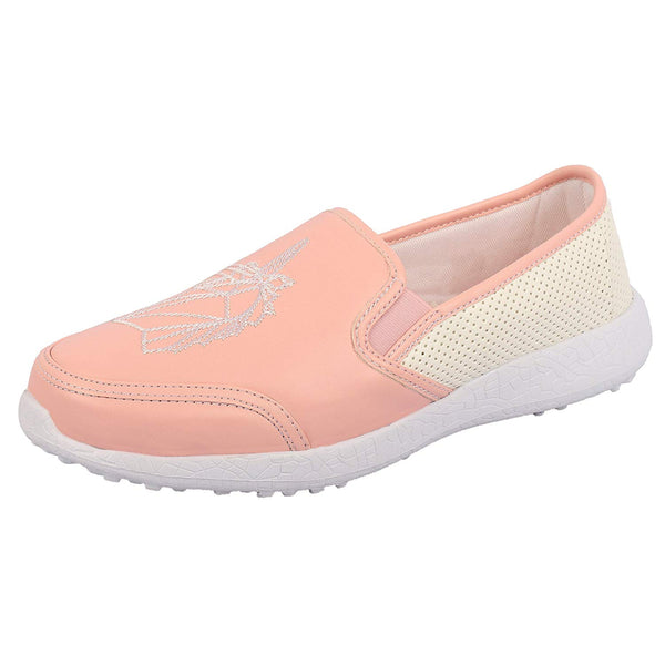 UNICORN DREAMS PINK - KazarMax Women's Embroidered Faux Leather Pink Unicorn Slipon Sneakers