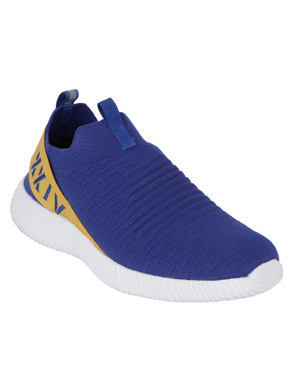 KazarMax  Men's ROYAL BLUE-YELLOW Slipon's Socks Sneakers/Running Shoes