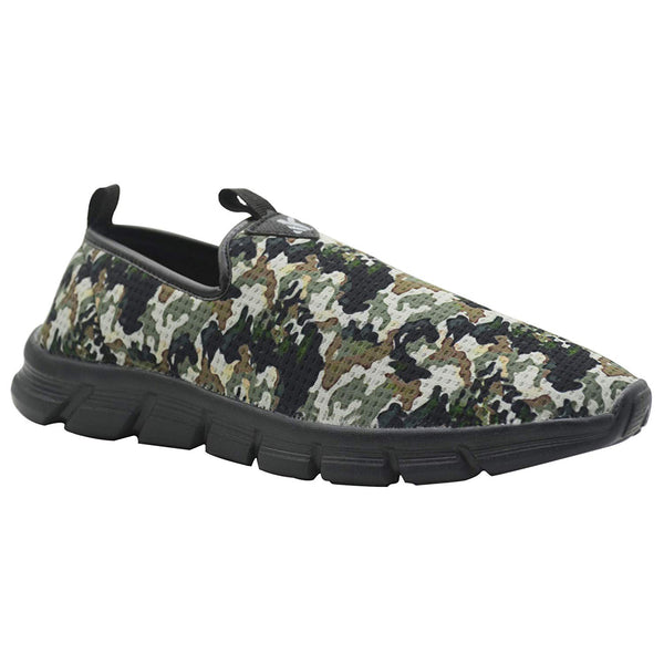 PATROL UNIT BLACK- KazarMax Men's Black Green Lifestyle Walking Shoes/Sneakers