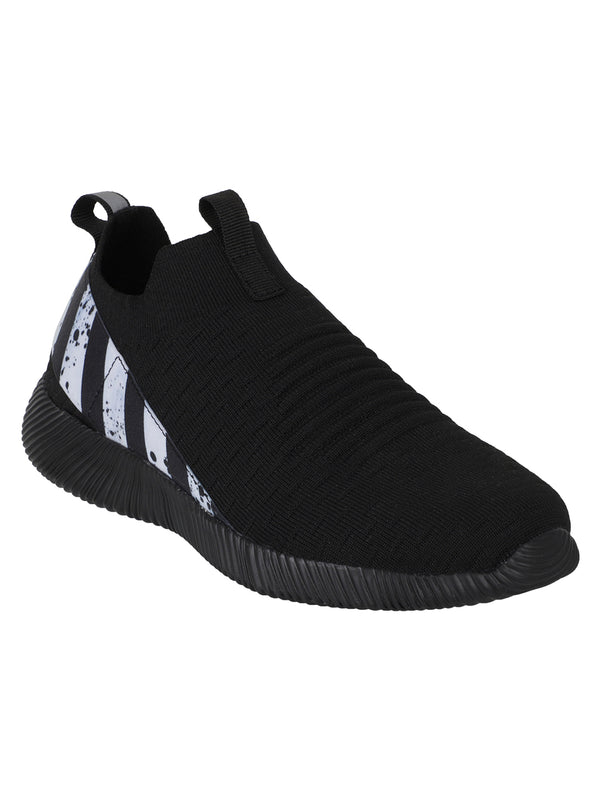 PITCH - KazarMax XXIV Men's Black White Lifestyle Socks Sneakers / Slipons Shoes