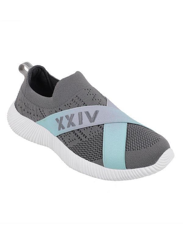 EMERALD - KazarMax XXIV Unisex Comfortable Grey-Green Slipon Socks Sneakers/Trainers