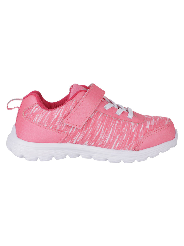 PEACHED KICKS - KazarMax Girl's Peach Pink Striped Comfortable Sports Sneakers/Shoes