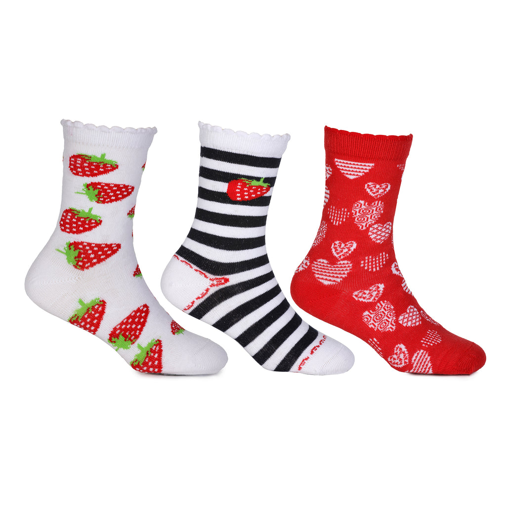 KazarMax Kids Multicolor Socks(Pack of 3)