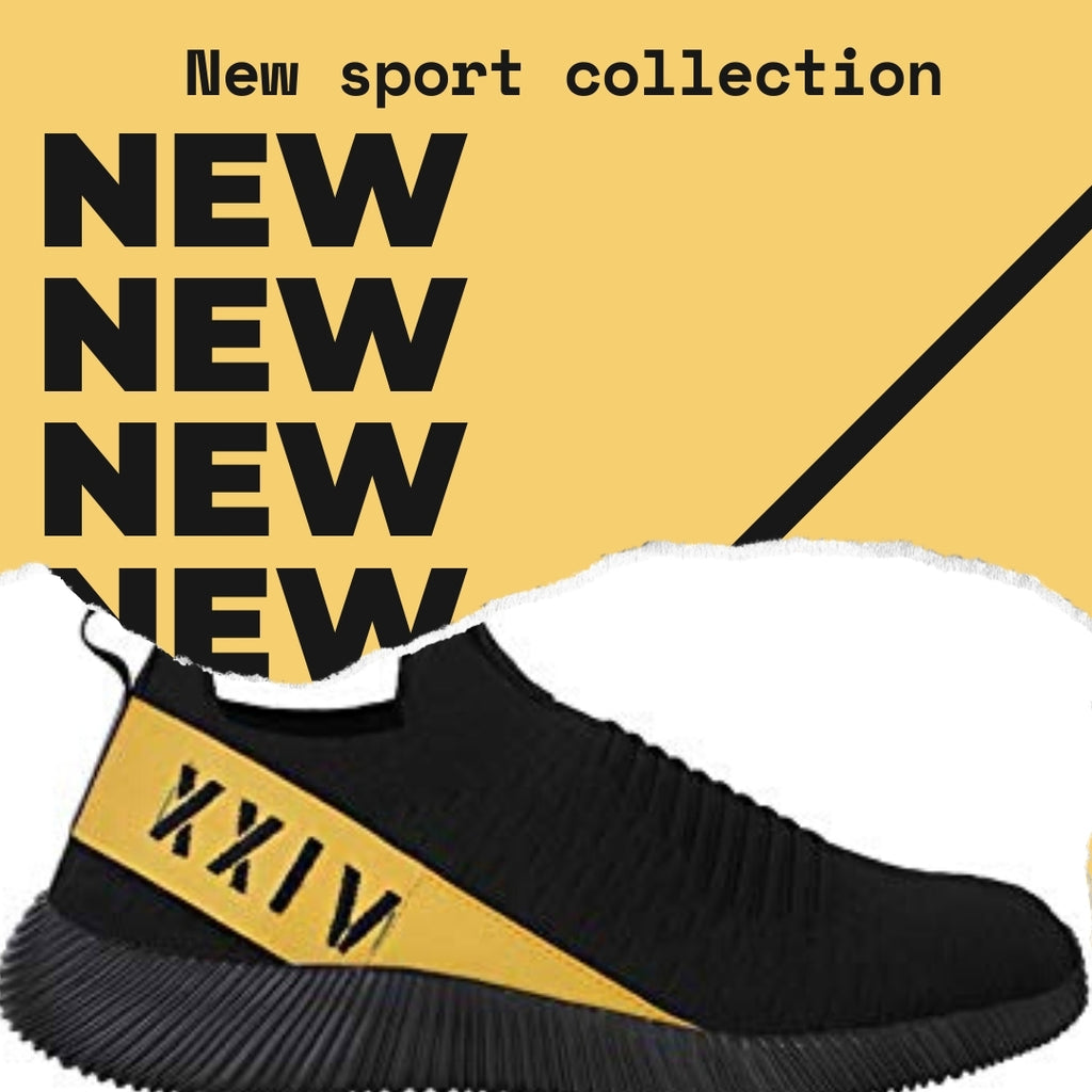 Wasp - KazarMax XXIV Men's Black Yellow Lifestyle Socks Sneakers / Slipons Shoes