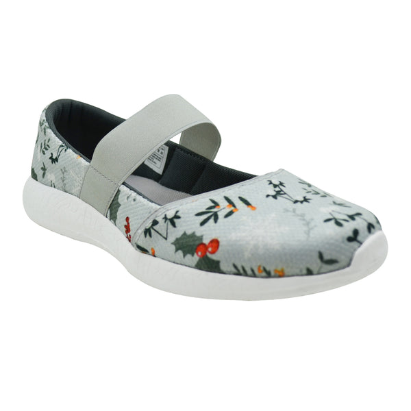 MERRY BERRY - KazarMax Women's & Girl's Grey Red Printed Memory Foam Ballerinas/Bellies/Slipons