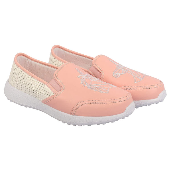 UNICORN DREAMS - PINK - TWINNING KazarMax Girl's & Women's Embroidered Slipon Loafers/Shoes