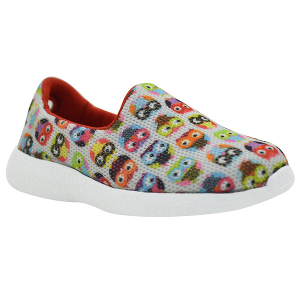 OWLSOME - KazarMax Boy's & Girl's (Unisex) Multicolour Owl Printed Slipon/Loafer/Sneaker Shoes