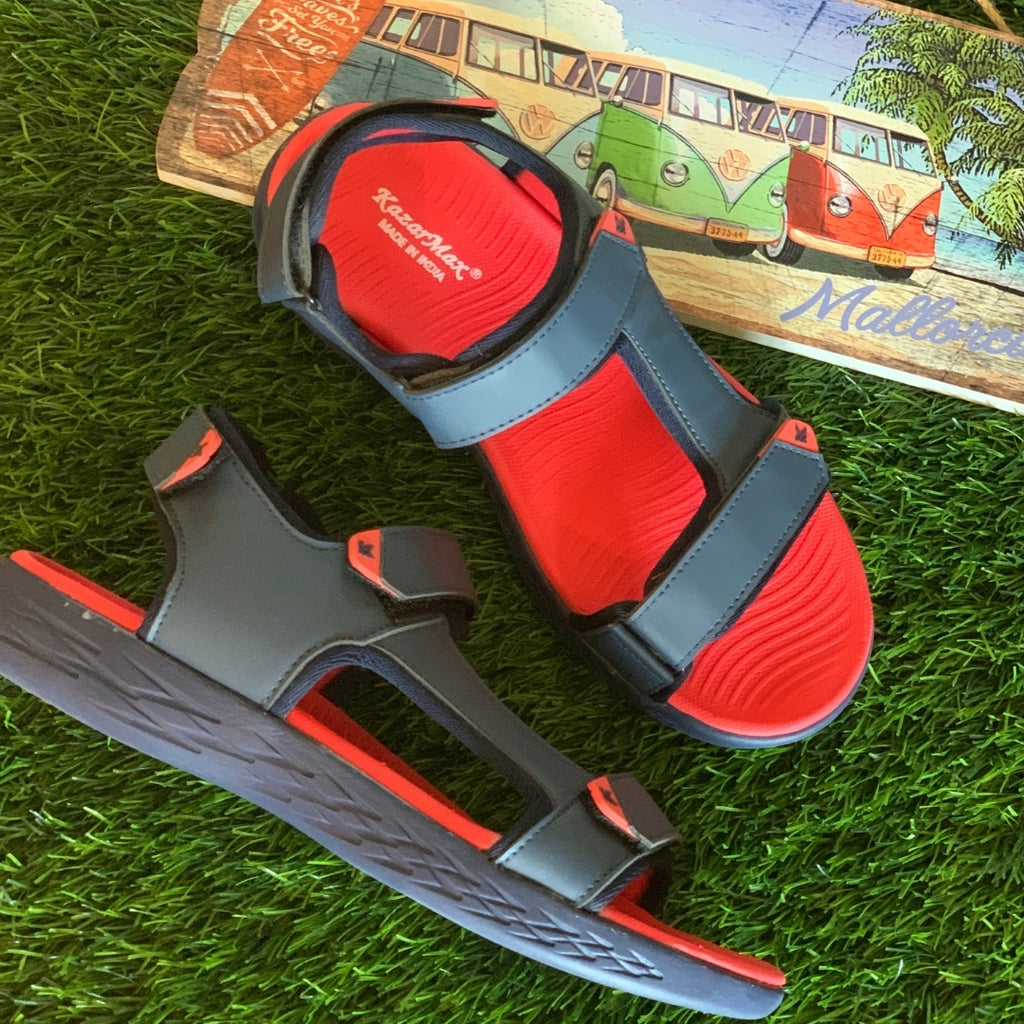 Men red sandal in men's footwear