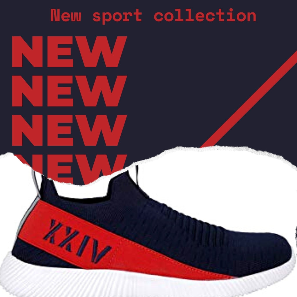 INFRARED - KazarMax XXIV Men's Navy Red Lifestyle Socks Sneakers / Slipons Shoes