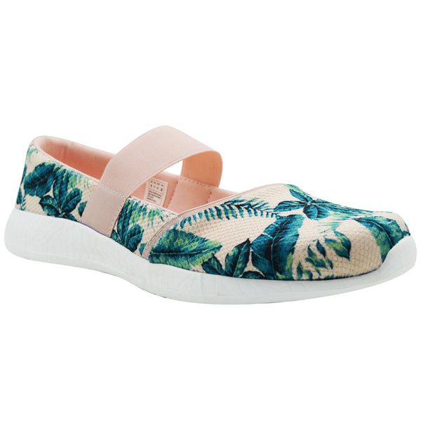 PARADISO - KazarMax Women's & Girl's Peach Green Printed Memory Foam Ballerinas/Bellies/Slipons