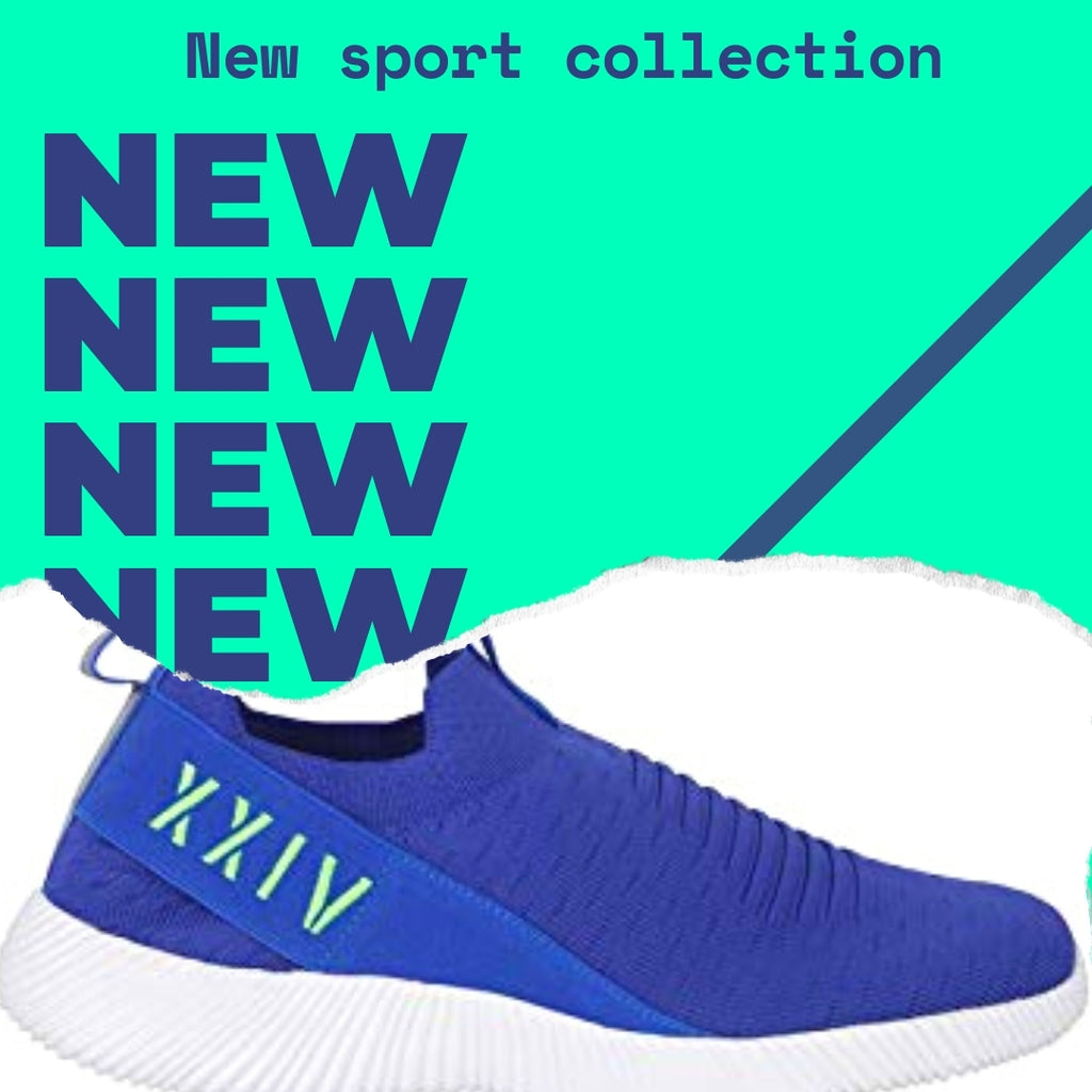 Eclectic - KazarMax XXIV Men's Royal Blue Neon Lifestyle Socks Sneakers / Slipons Shoes