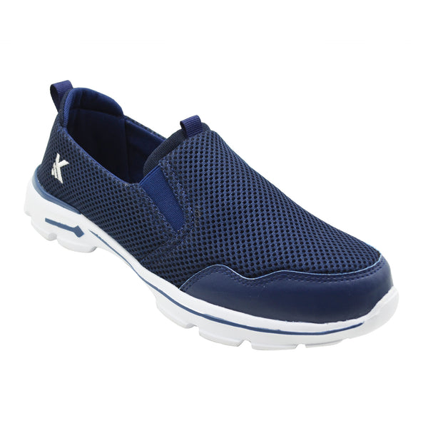 MOCCS NAVY - KazarMax Men's Solid Navy Walking Slipon Sneakers/Shoes