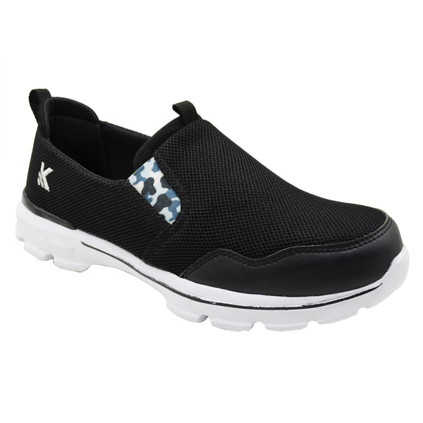 MOCCS BLACK CAMO - KazarMax Men's Black Camo Walking Slipon Sneakers/Shoes