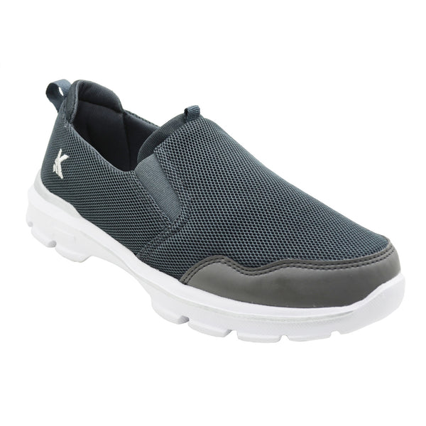 MOCCS GREY - KazarMax Men's Solid Grey Walking Slipon Sneakers/Shoes