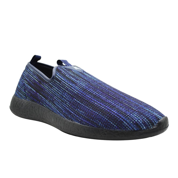 COBALT - KazarMax Men's Navy Blue Textured Walking Shoes/Sneakers