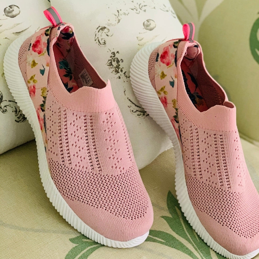 peach socks sneakers for women