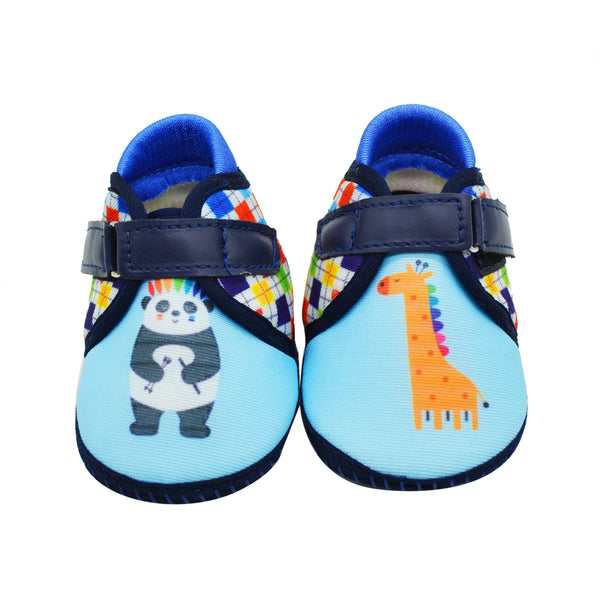 PANDA EXPRESS TOOTSIES - KazarMax Anti-Skid Breathable Soft Comfortable Blue Multicolour New Born Baby Boy Shoes/Booties