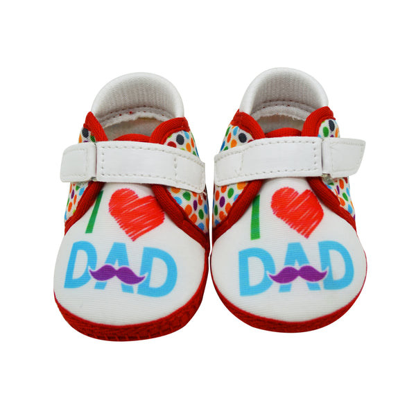 DADDY LOVE TOOTSIES - KazarMax Anti-Skid Breathable Soft Comfortable White Red New Born Baby Girl & Boy Shoes/Booties
