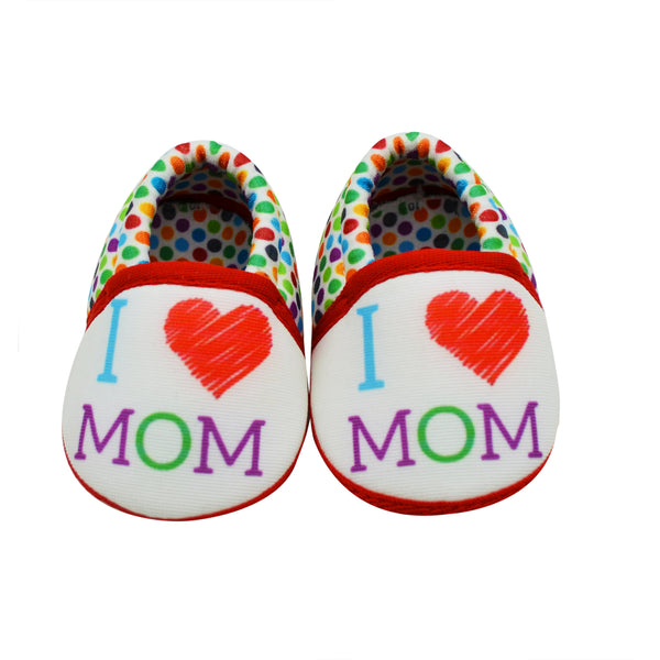 MOMMY LOVE TOOTSIES - KazarMax Anti-Skid Breathable Soft Comfortable White Red New Born Baby Girl & Boy Mocassin Shoes/Booties