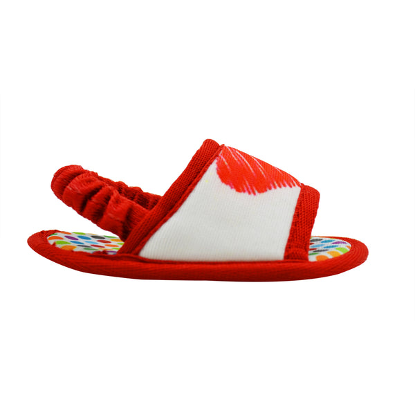 HUGS N KISSES TOOTSIES - KazarMax Anti-Skid Breathable Soft Comfortable White Red New Born Boy & Girl Baby Sandal Booties