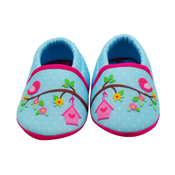 PERCHED TOOTSIES - KazarMax Anti-Skid Breathable Soft Comfortable Pink Blue New Born Baby Girl Mocassin Shoes/Booties
